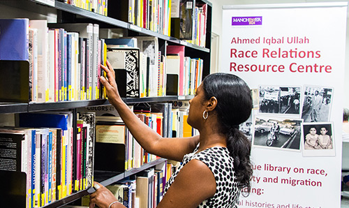 Student in the Ahmed Iqbal Ullah Race Relations Resource Centre Library