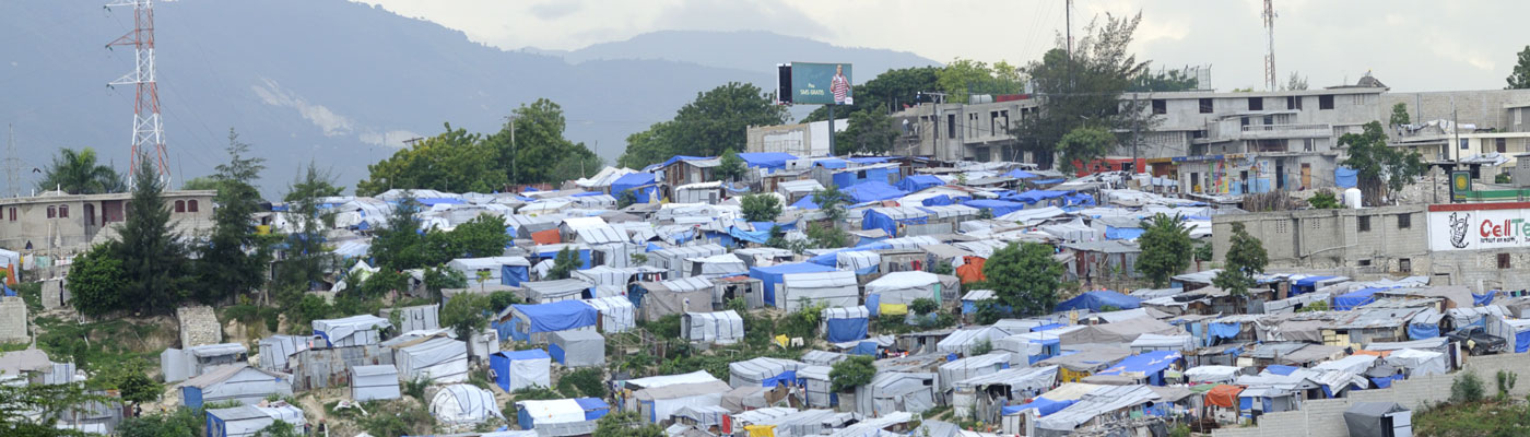 Tented village following the Haiti earthquake